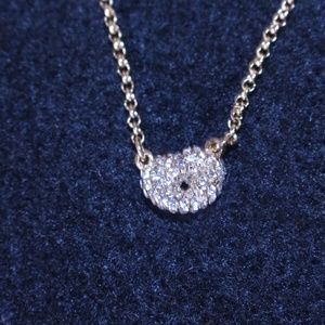 "Single Knot Crystal 16"" Necklace"